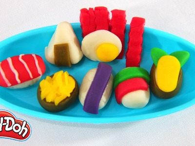 How To Make Mini Sushi and Bento Set | Playdoh DIY Video | Education Toys | Happy Clay Channel