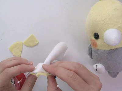 How to make plush: Sewing bird beak
