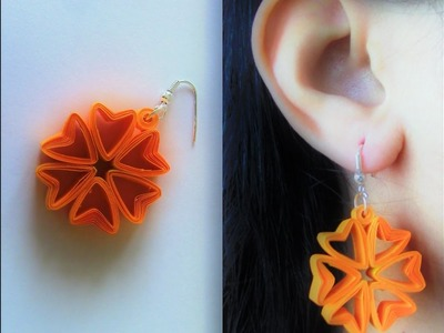How To Make Quilling Earring Tutorial.Design 40