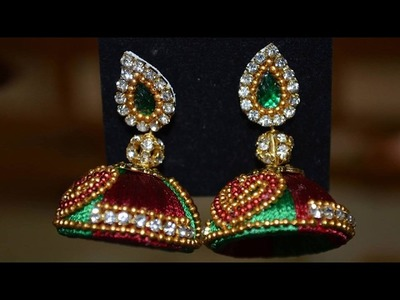 How to Make SImple and Beatiful Silk Thread Earrings at Home