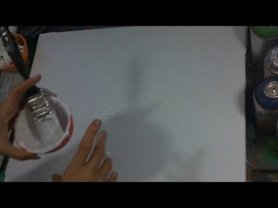 How to prepare a canvas for spray paint art