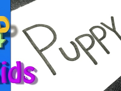 How to turn words into cartoons for Kids very Easy! Puppy #7