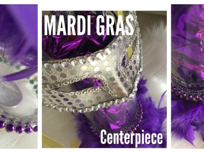Mardi Gras Centerpiece DIY | Dollar Tree Decoration Idea