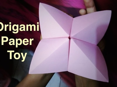 Origami paper toy for kids. Easy Origami