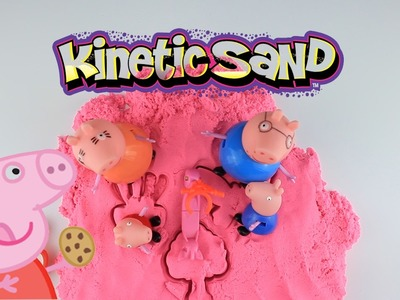 Peppa Pig DIY How to make 'Heart Kinetic Sand Cake ' Creative For Kids