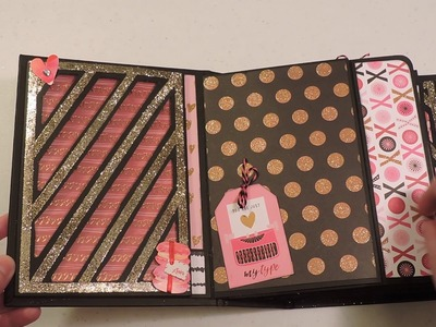 Picture Perfect Portrait Mini Album using Recollections St. Valentin Paper