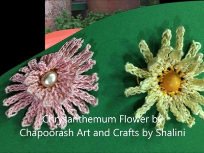 Stepbystep DIY | Crochet Chrysanthemum ( Shevanti ) Flower | For beginners – Episode 22