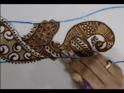 Tutorial 29 :how to use peacock drawing in intricate mehendi design