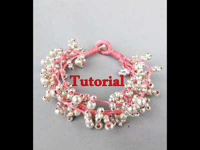 Tutorial Cherry  Blossom Bracelet the End การทำสร้อยข้อมือดอกซากุระ จากเชือกเทียน.