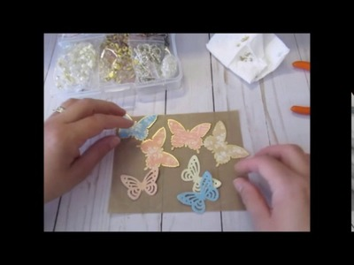 """Use It or Loose"" Episode 1: (part 1) Layered Butterflies and Paper and Tulle Bows"