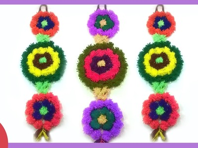 Wall Hanging From WOOLEN-DIY Wall Decor Ideas