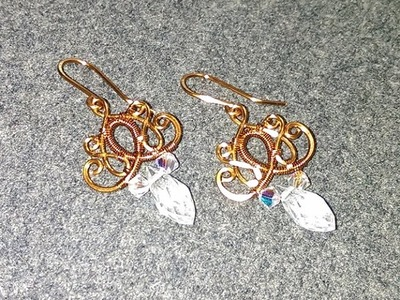 Wire earring - How to make wire jewelery 218