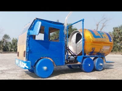 Wow! Amazing  fuel gas tanker~Truck Container~DIY at Home Easy Way