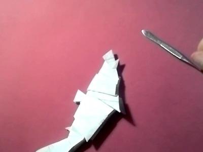 #8 Origami blue shark be Robert Lang (part 2 of 2) -Yakomoga Origami tutorial