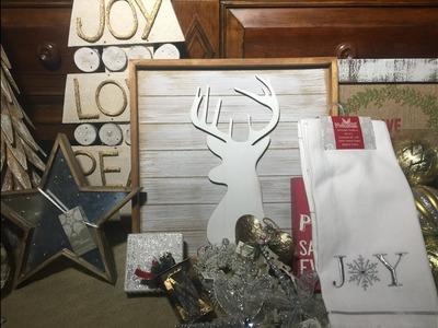 Christmas Decor Haul #2: HomeGoods, Marshalls, & Walmart