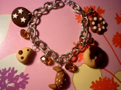 Come montare un bracciale con charms in fimo - How to create a charms bracialet