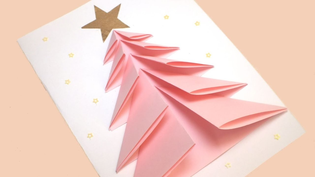 diy christmas tree card  greeting card