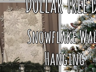 Dollar Tree Christmas DIY - Large Snowflake Wall Art | Holiday Decor