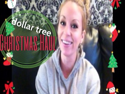 DOLLAR TREE HAUL • CHRISTMAS ORNAMENTS & CANDY CANE GARLAND!! fabbTV