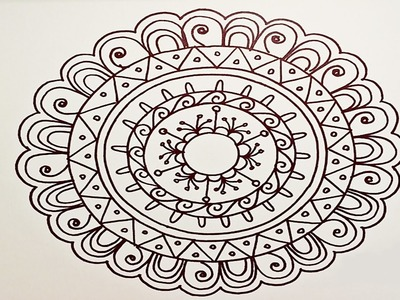 Drawing A Easy & Fun Mandala For Beginners - Part 1