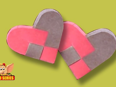 Easy to make Kirigami 2 x 2 Heart Pocket