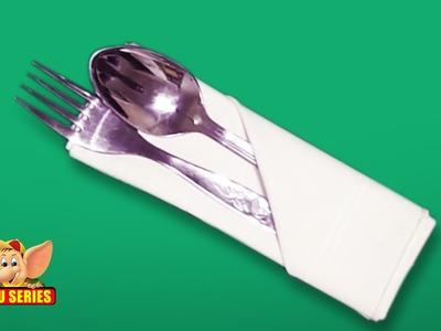 Fold a Silverware Napkin Pouch