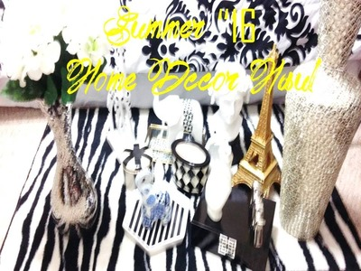 "HOME DECOR HAUL ""SUMMER '16"" |Black, White & Gold Decor"