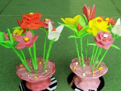 "How To Create Flower From Rice Flour - ""Tò He"" Art"