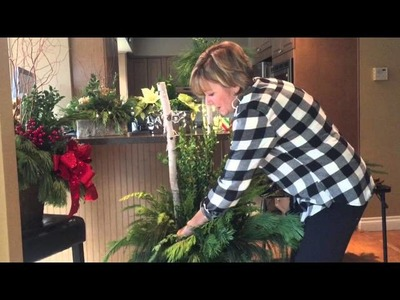 How to Decorate an Outdoor Holiday Urn