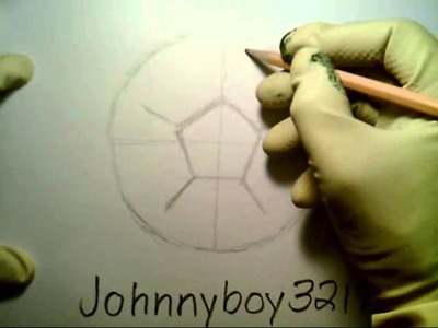 How To Draw A Soccer Ball como dibujar una pelota de futbol FIFA football player goal field