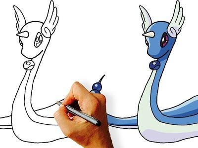 How to Draw Dragonair from Pokemon