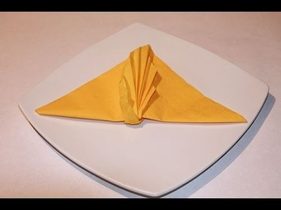 How to Fold Napkin - Leaf Folding