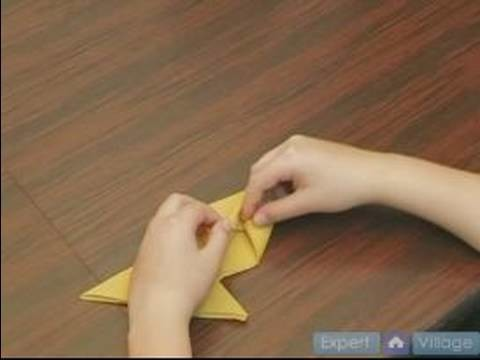 How to Fold Napkins : How to Make a Fish Fold in a Napkin