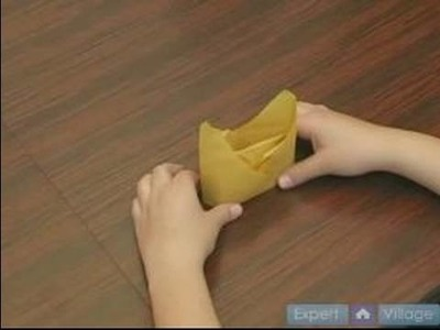 How to Fold Napkins : How to Make a Crown Fold in a Napkin