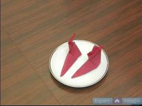 How to Fold Napkins : How to Make a Boot Fold in a Napkin