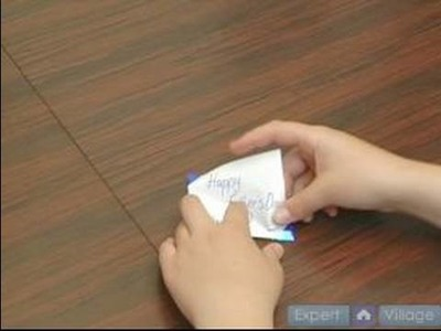 How to Fold Napkins : How to Make a Place Card Fold in a Napkin