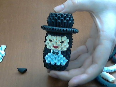 HOW TO MAKE A 3D ORIGAMI SMALL GROOM