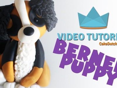 How to make a Bernese Mountain Dog Cake Topper - Cake Decorating Tutorial