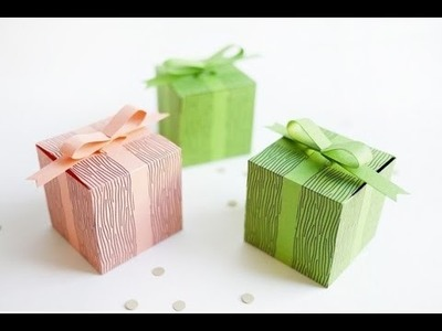 How to make a gift box with paper