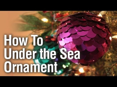 How to make an Under the Sea Sequin Ornament