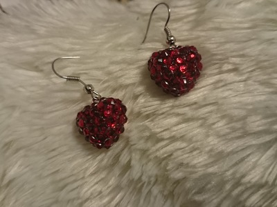How to make terracotta heart earrings: terracotta.clay jewellery making