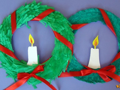 How to make Wreath Paper Plate?