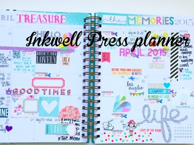Inkwell Press Classic Planner- April 2015 Monthly Layout