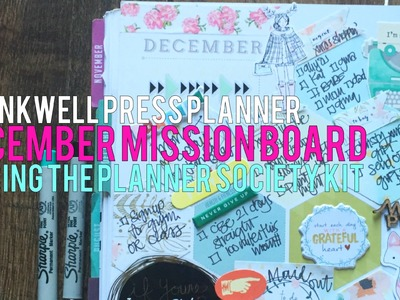 IWP December Mission Board using The Planner Society Kit