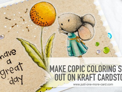 Just Fun Coloring: Copics on Kraft with Purple Onion Designs