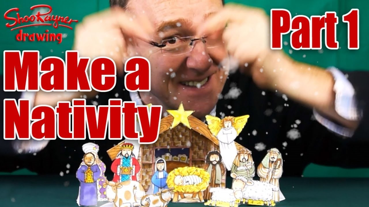 Make a Nativity Scene - Part 1 - Draw out the Stable