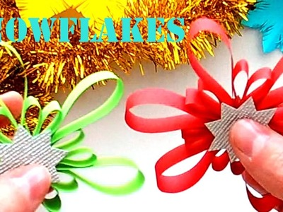 Make beautiful Snowflakes to Decorate. Decorate Christmas Snowflakes Stripes