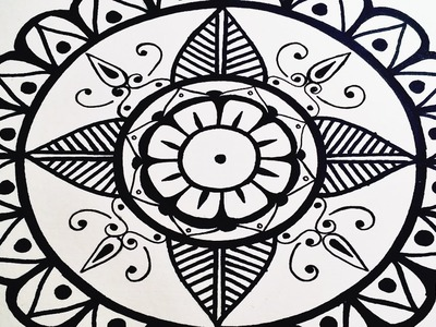 Mandala | Draw A Very Simple Mandala For Beginners Step By Step