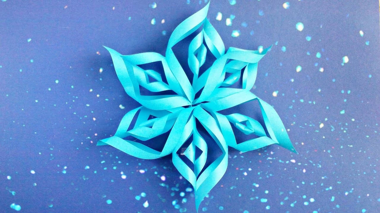 Modular 3d Origami Snowflake Tutorial Easy Instructions New Year Christmas Diy Paper Snowflakes