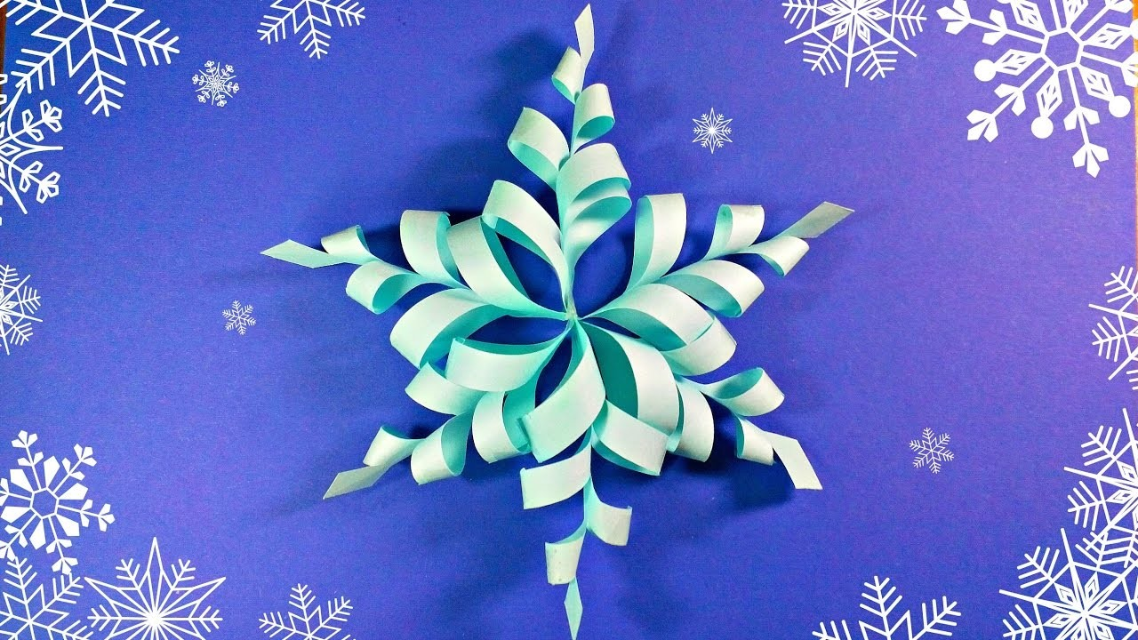 Modular 3d origami snowflake frozen easy star paper for How to make 3d paper stars easy